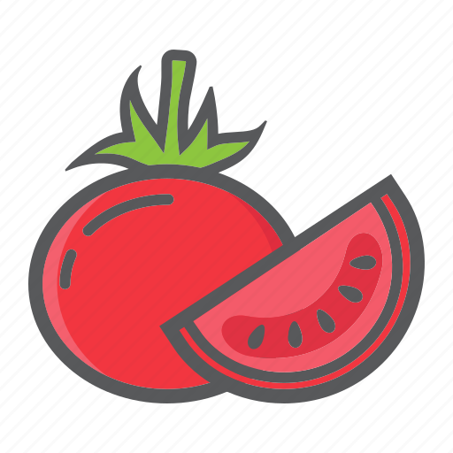 diet, food, health, tomato, vegetable, vegetarian, vitamin icon