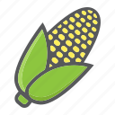 corn, diet, food, maize, vegetable, vegetarian, vitamin icon
