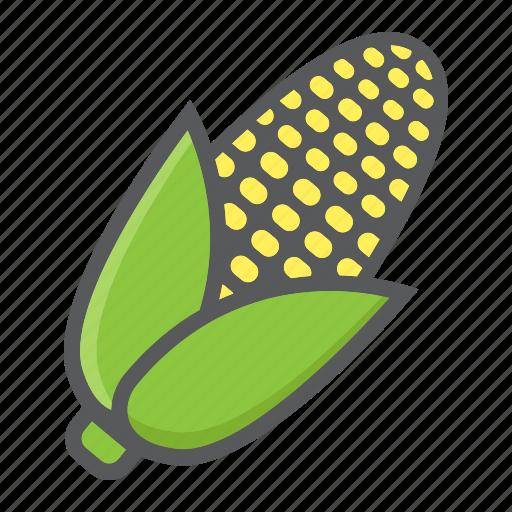 Corn, diet, food, maize, vegetable, vegetarian, vitamin icon - Download on Iconfinder