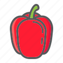 bell, diet, food, pepper, sweet, vegetable, vegetarian icon