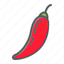 chili, diet, food, hot, pepper, vegetable, vegetarian icon