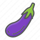 diet, eggplant, food, health, vegetable, vegetarian, vitamin icon
