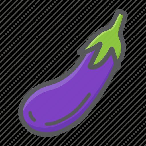 diet, eggplant, food, health, vegetable, vegetarian, vitamin icon