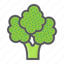 broccoli, diet, food, health, vegetable, vegetarian, vitamin icon
