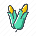 corn, vegetable icon