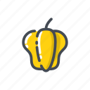 pepper, yellow pepper icon