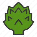 artichoke, food, fresh, green, vegan, vegetable, vitamin icon
