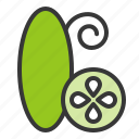 cucumber, food, green, vegan, vegetable, vitamin, zucchini icon
