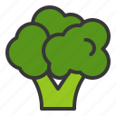 broccoli, food, fresh, green, vegan, vegetable, vitamin icon