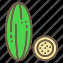 cucumber, food, organic, vegetable