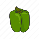 bell pepper, food, healthy, plants, spice, vegetable, veggies icon