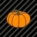 halloween, plants, pumpkin, squash, vegetable, veggies icon