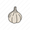 garlic, species, plants, seasoning, vegetable, food icon