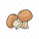 veggies, healthy, mushroom, plants, seasoning, vegetable, toadstool icon