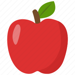 apple, food, fruit, red icon