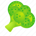 broccoli, food, green, health, organic icon