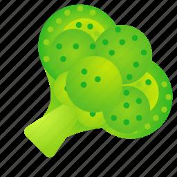 broccoli, food, green, health, organic icon
