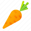 carrot, food, green, health, organic icon