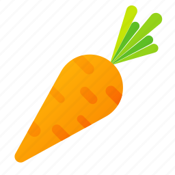 carrot, food, green, health, organic icon