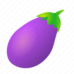 aubergine, eggplant, food, green, health, organic icon