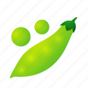 beans, food, green, health, organic, pea, pod icon