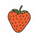 strawberry, food, fruit, healthy, sweet icon