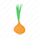cartoon, food, fresh, healthy, onion, vegetable icon