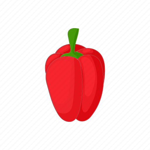 cartoon, fresh, pepper, red, sweet, vegetable, vegetarian icon
