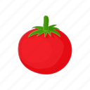 cartoon, food, fresh, red, ripe, tomato, vegetable icon