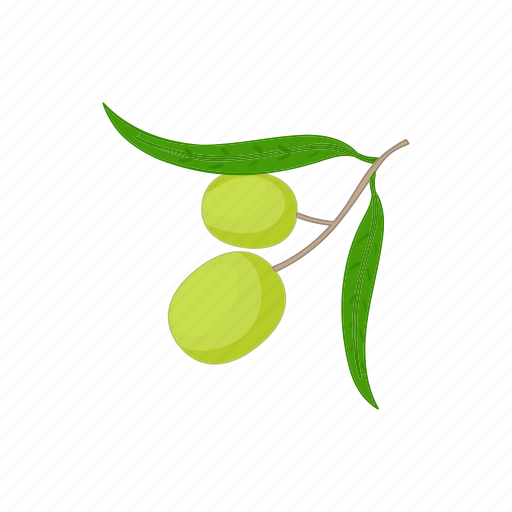 cartoon, food, healthy, ingredient, mediterranean, oil, olive icon