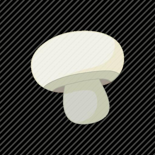 cartoon, champignon, food, mushroom, organic icon