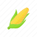 cartoon, corn, food, maize, vegetarian, yellow icon