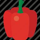 bell, bell pepper, pepper, red, red bell pepper icon
