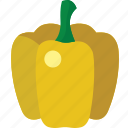 bell, bell pepper, pepper, yellow, yellow bell pepper icon