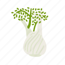farm, fennel, food, organic, vegetable, vegetarian icon