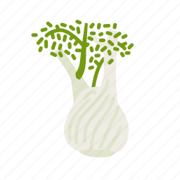 farm, fennel, food, organic, vegetable, vegetarian icon