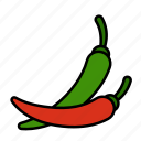 vegetable, chilli, food, hot, pepper, spice, spicy