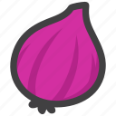 ingredient, onion, vegetable icon