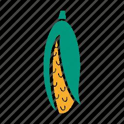 corn, food, healthy food, ingridient, vegetagles icon