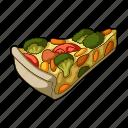cooking, dish, food, fruit, pizza, vegetable, vegetarian
