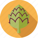 artichoke, food, fresh, groceries, vegetable icon