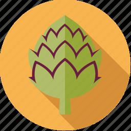 artichoke, food, fresh, groceries, vegetable icon