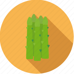 asparagus, food, fresh, green, groceries, vegetable icon