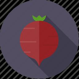 beet, food, fresh, groceries, root, vegetable icon