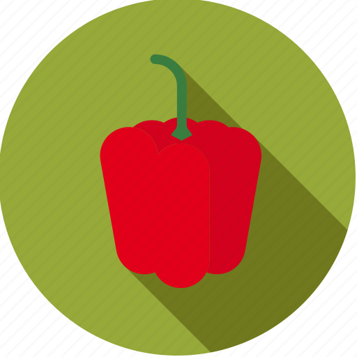bell pepper, food, fresh, groceries, red, vegetable icon