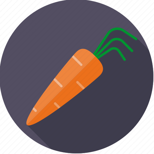 carrot, food, fresh, groceries, vegetable icon