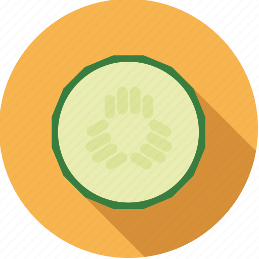 cucumber, food, fresh, groceries, slice, vegetable icon