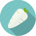 food, fresh, groceries, horseradish, root, vegetable icon