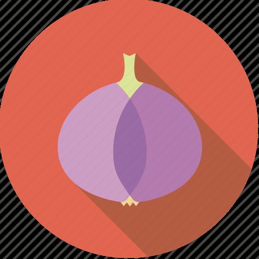 food, fresh, groceries, onion, pink, purple, vegetable icon