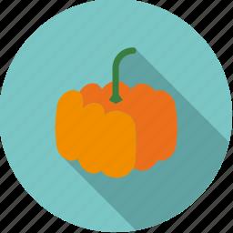 food, fresh, groceries, halloween, pumpkin, vegetable icon